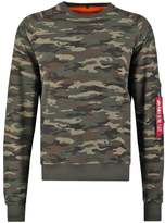 Alpha Industries X Fit Sweatshirt Mottled Green