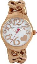 Betsey Johnson Women's Rose Gold-Tone Steel Bracelet Watch 38mm BJ00297-11