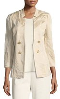 Misook Textured Button-Detail Jacket