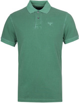 Barbour Washed Sports Turf Green Short Sleeve Polo Shirt