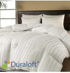 Blue Ridge 500 Thread Count Damask Stripe Duraloft Down Alternative Twin Comforter