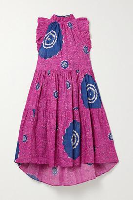 Ulla Johnson Tamsin Ruffled Printed Cotton-poplin Dress - Pink