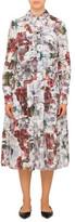 Erdem Lorelei Long Sleeve Midi Shirt Dress