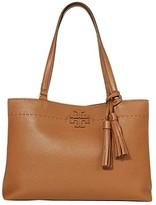 Tory Burch Mcgraw Triple-Compartment Tote (Moose) Handbags