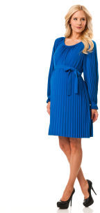 A Pea in the Pod Donna Morgan Long Sleeve Pleated Maternity Dress
