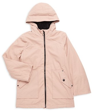 Urban Republic Girl's Faux Fur Raincoat