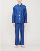 Derek Rose Paris cotton-satin pyjamas