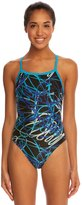 Speedo Spiral Curve Flyback One Piece Swimsuit 8138478