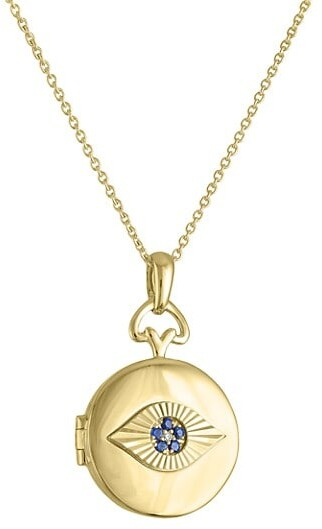 Thumbnail for your product : My Story The Alessia 14K Yellow Gold, Sapphire & Diamond Evil Eye Locket Necklace