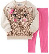 Kids Headquarters Baby Girls' 2-Pc. Faux-Fur Deer Sweatshirt & Leggings Set