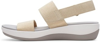 Clarks Arla Jacory Low Wedge Sandal - Nude