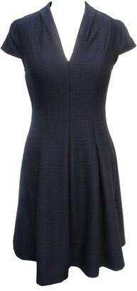 Sandra Darren Solid V-Neck Cap Sleeve Fit & Flare Dress