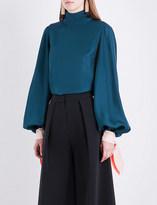 Roksanda Nivala silk-twill blouse
