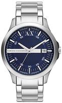 Armani Exchange Ax2132 Date Bracelet Strap Watch, Silver/blue
