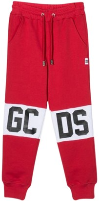 GCDS Kids Sport Trousers With Print