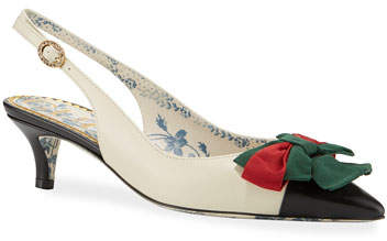 58bc59936f Jane Slingback Pumps with Web Bow