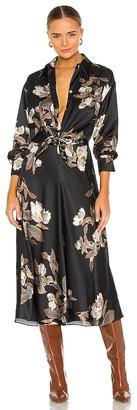 Vince Lisianthus Tie Front Shirt Dress