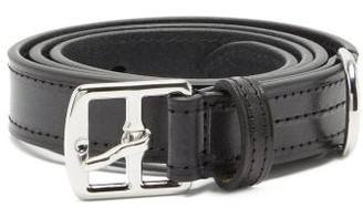 Andersons Buckled Topstitched Leather Belt - Black