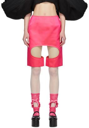 Comme des Garcons Pink Satin Skirt
