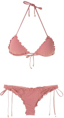AMIR SLAMA Ruffled Triangle Bikini Set