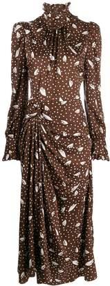 Alessandra Rich jacquard print midi dress