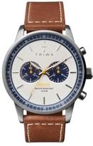 Triwa Nevil Chronograph Leather Strap Watch, 42Mm