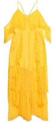 Alice McCall Cold-shoulder Ruffled Fil Coupe Silk-blend Midi Dress