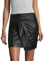 Ella Moss Women's Faux Leather Mini Skirt