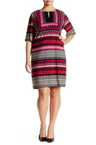 Sandra Darren Keyhole Jersey Dress (Plus Size)