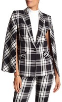 Trina Turk Juno Plaid Cape Blazer
