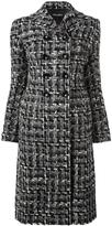 Dolce & Gabbana tweed midi coat - women - Silk/Cotton/Acrylic/Wool - 38