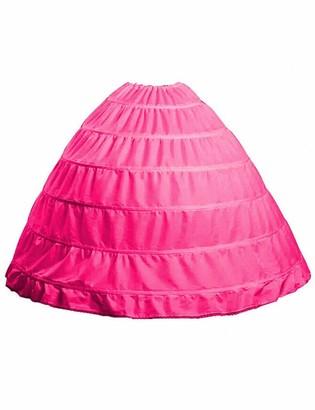 FromNlife Full A-line 6 Hoop Floor-Length Bridal Dress Gown Slip Petticoat for Wedding Dress