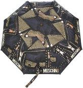 Moschino trompe l'oeil biker umbrella - unisex - Polyester - One Size