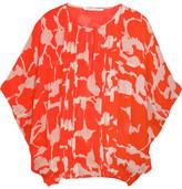 Diane von Furstenberg Khalila printed silk-chiffon top