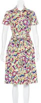 Carolina Herrera Parasol Print Button-Up Dress w/ Tags