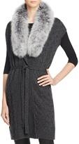 Magaschoni Cashmere and Fur Vest