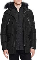 The Kooples Heavy Nylon and Leather Puffer Coat
