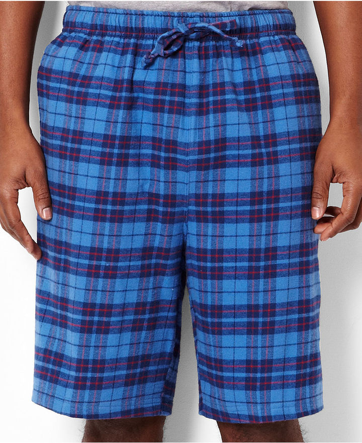 Nautica Men's Loungewear, Flannel Jam Shorts