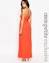 Asos Plunge Maxi Dress with Strappy Back