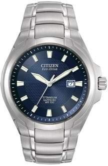Citizen Titanium Eco-Drive Blue Dial Watch