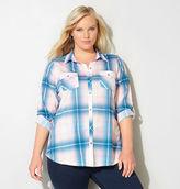 Avenue Button Pocket Plaid Knit Shirt