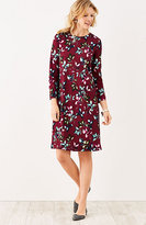 J. Jill Ponte Knit Leaf-Print Dress