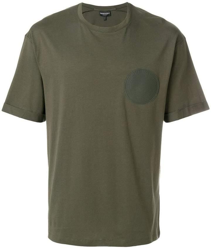 Emporio Armani circle patch T-shirt