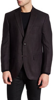 David Donahue Wool Blend Two Button Notch Collar Jacket