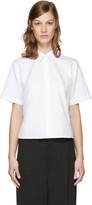 Alexander Wang White Poplin Cut-out Shirt