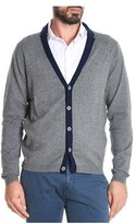 Sun 68 Men's Grey Wool Cardigan.