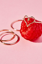 Honey My Heart x Free People Womens LOVE NOTE RING SET