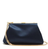 Mansur Gavriel Mini Volume satin clutch