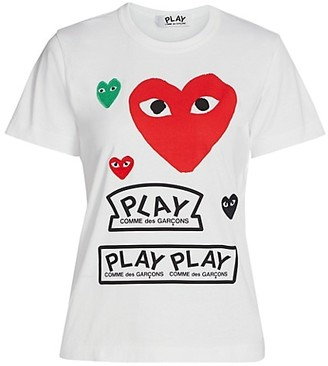 Comme des Garcons Large Heart Play T-Shirt