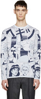 Loewe Blue Wool Anime Sweater